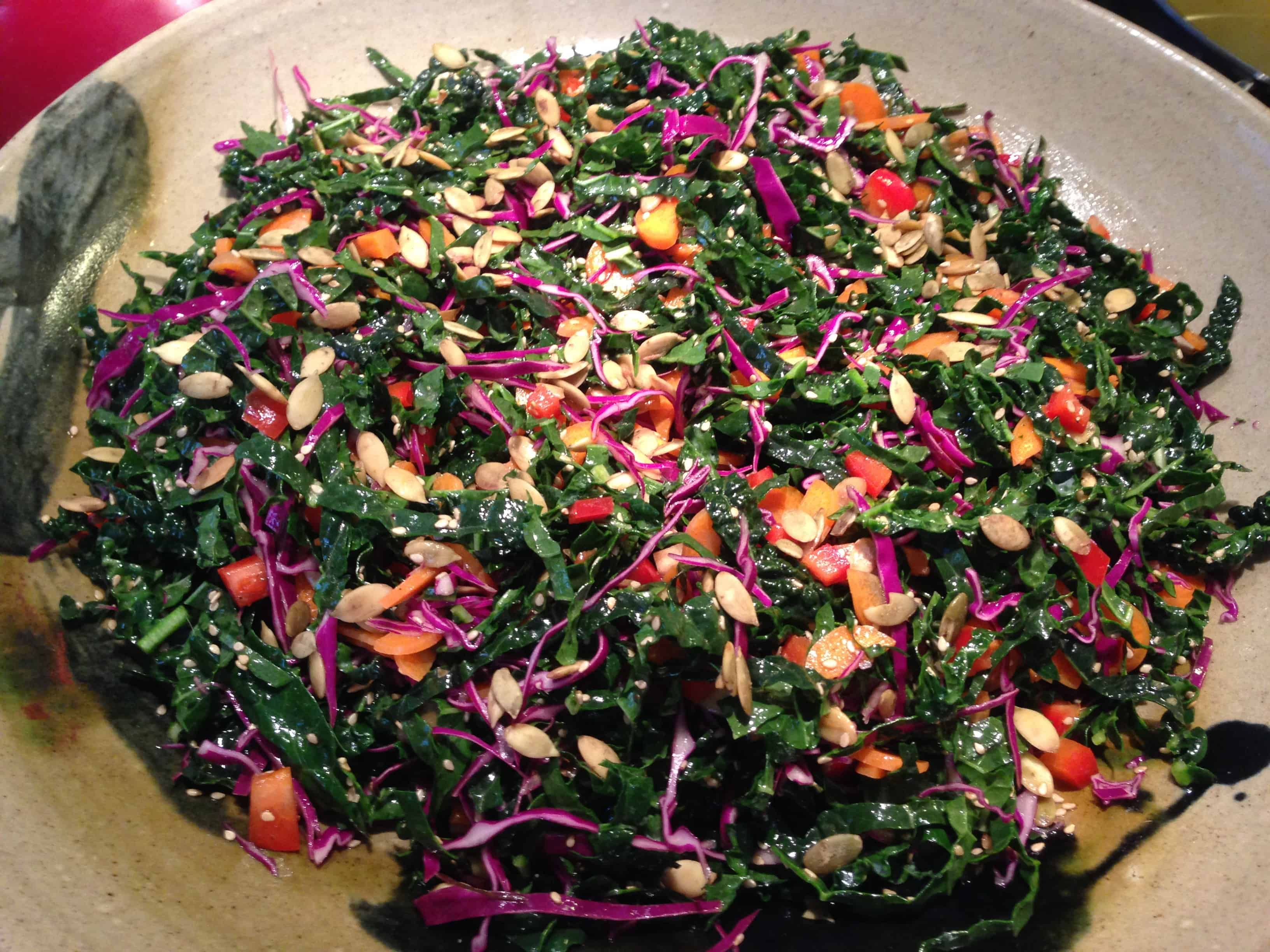 Dinosour Kale Salad - Tri Holistic Nutrition