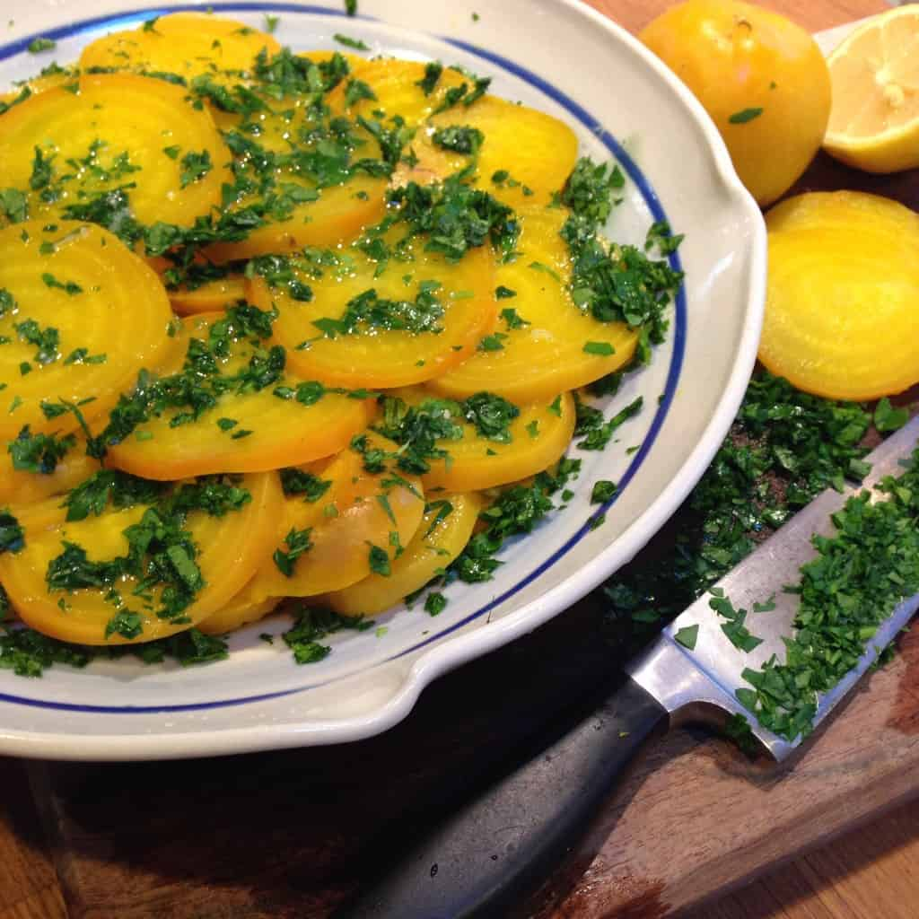 Yellow Beet Salad with Lemon and Parsley |Tri Holistic Nutrition